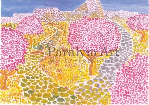 城跡と桜の木