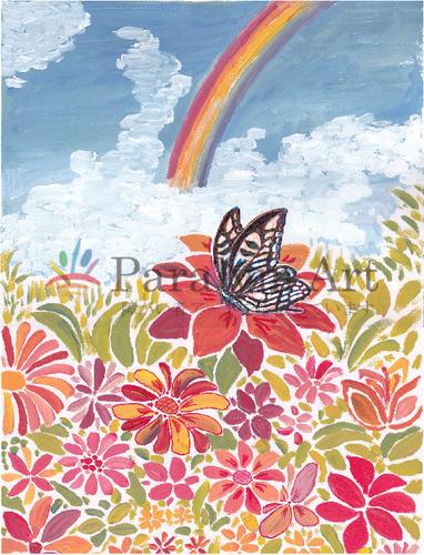 御国の花と虹