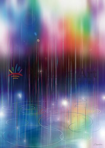 雨露が虹色を育む